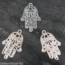 chapado en Plata Joyería charm de pulsera Henna Mano Estándar Paquete 10 CH7