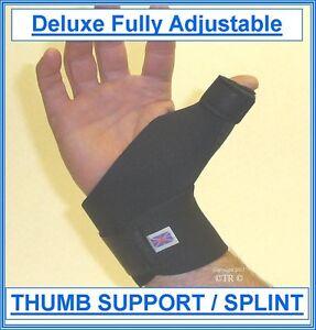 Deluxe Fully Adj THUMB SUPPORT / SPLINT (Worldwide FREE Delivery)