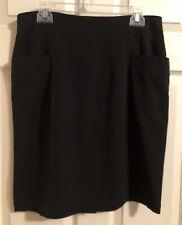 Sharagano Studio Women's Black Pencil Skirt W/ Pockets Size 10