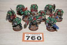 Warhammer 40k Space Orks-Ork Boyz X 10-Lote 760 Pintado & basado