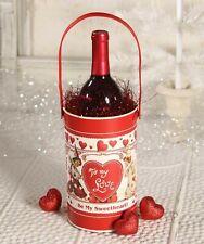 Bethany Lowe Tin Valentine's Wine Bucket Tf6125 New