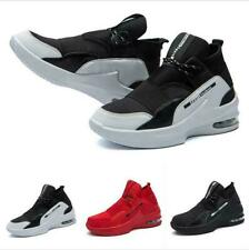 Mens Air Cushion High Top Outdoor Sport Breathable Sneaker Basketball Shoes HOT