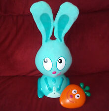 Quaps Hide & Seek Jojo Interactive Bunny Rabbit Blue with Orange Carrot Locator