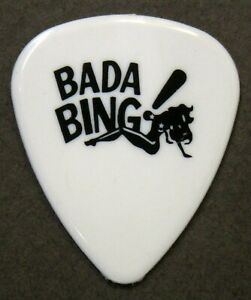 "Pat Smear FOO FIGHTERS ""Bada Bing!"" Sopranos guitar pick 2021 Seattle Benefit"