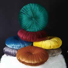 Pouf Tatami Throw Pillow Velvet Fabric Round Decorative Floor Seat Cushion Pad