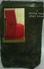 Scroll Full Dining Room Chair Cover, Hunting Green