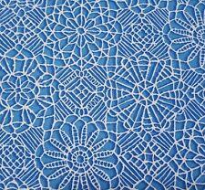 Amazing Lace BTY Quilting Treasures Medium Blue White 100% Cotton Screenprint