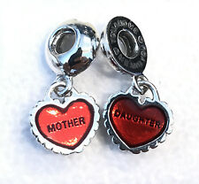Pandora Piece of My Heart Mother Daughter Charm 790950EN27 +Gift Packaging+Pouch