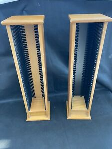 Set Of 2 Solid Wooden CD Racks Free Standing Perfect Condition CD Storage Trad