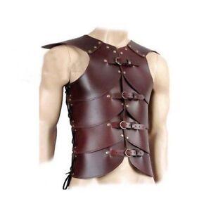 Leather Vest ARMOR 4mm Leather Armor LARP MEDIEVAL Costume Original