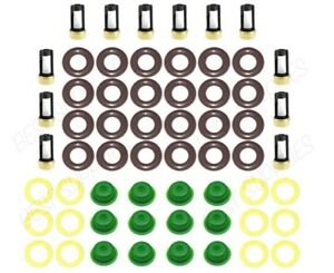 V12 Fuel Injector Service Repair Kit O-Rings Filters Seals Pintle Caps Retainers