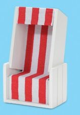 Strandkorb Weiß/rot 12 X 7 X 4 5 Cm