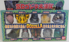 GODZILLA : SET OF 10 MINITURE FIGURES MADE BY BAN DAI IN JAPAN