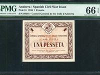 Reproduction Andorra 1 peseta 1936 UNC