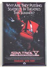 Star Trek 5 (Advance) FRIDGE MAGNET (2 x 3 inches) movie poster final frontier