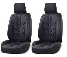deluxe nero similpelle copri sedili anteriori Cuscino per Renault Clio Megane