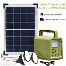 ECO Kit di illuminazione solare Lampadina Solare Portatile con Pannello Solare
