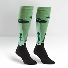 I believe in Aliens on Women's Knee High Socks by Sock It To Me