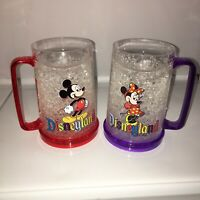 Rare Collectible Disneyland Mickey & Minnie Frosty Crystal Diamond Mug Cup