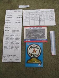 STRAT-O-MATIC Strat Fan BASEBALLTeam:1972 Oakland A's:World Champions!(27)