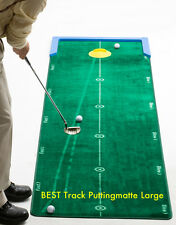 Golf Putt-Training, BEST Track Puttingmatte Large, 3,20m x 75cm, kein Kunstrasen