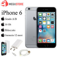 APPLE IPHONE 6 16GB SPACE GREY GRADO A/B + ACCESSORI + GARANZIA 12 MESI