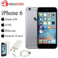 APPLE IPHONE 6 16GB SPACE GREY GRADO A/B + ACCESSORI + GARANZIA 12 MESI