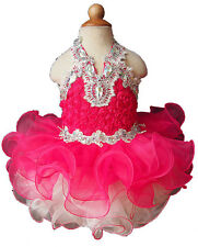 Infant/toddler/kids/baby/Girl's Pageant/prom/formal Dress size1-size7  G040