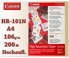 Canon Hochauflösendes Fotopapier HR-101N Hoch Auflösendes A4 200 Foto Papier