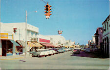 Lake Avenue Lake Worth Florida FL Caters Furniture HC Pence Cars Postcard D75