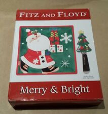 Fitz and Floyd Merry & Bright Snack Plate with Spreader New