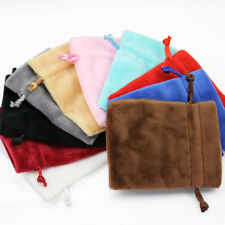 Velvet Jewellery Gift Bags Drawstring Pouches Thick Soft High Quality Wholesale