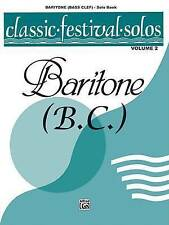 NEW Classic Festival Solos (Baritone B.C. - Solo Book) Volume 2