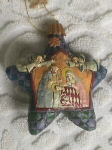 Jim Shore Heartwood Creek For Enesco 2004 Star With Nativity Ornament w/tags
