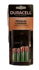 Duracell Ion Speed 4000 Battery Charger with AA/AAA NiMH Batteries NEW Sealed