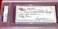 REGGIE JACKSON NEW YORK YANKEES baseball HOFer auto autograph PERSONAL CHECK PSA