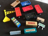 Thomas Wooden Railway - Cargo Car and Freight LOT