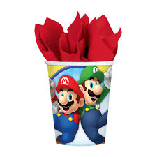 Super Mario Brothers Paper Cups [8ct] Birthday Party Tableware Supplies