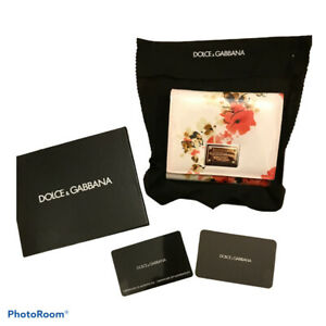 BNIB D&G Dolce & Gabanna Floral Small Trifold Purse Wallet