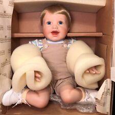Rare Ashton Drake Porcelain Doll - Boy Playing with Bubbles - Zack - New In Box