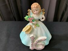 "A Josef Original Collectible Angel ~ ""The Sixteenth Year"" w/Tag ~ 6"" Tall"
