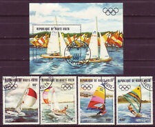 BURKINA FASO 1983;PRE-OLYMPICS, 1984;COMPLETE SET OF 4 & SS; SC # C278-C282:USED