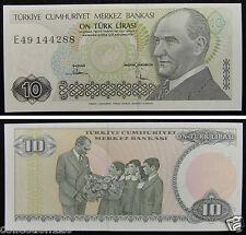 Turkey Paper Money 10 Lirasi 1970 UNC