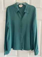 Sezane Roxane Shirt - 100% Silk - Green - Size FR38 / US6 - EUC
