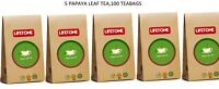 Papaya leaf tea,Immune system booster,Detox agent,100 Teabags,200g