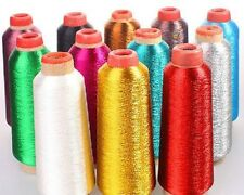 GREEN Metallic Sewing Machine Embroidery Threads,5000 yard tangle free, usa sale