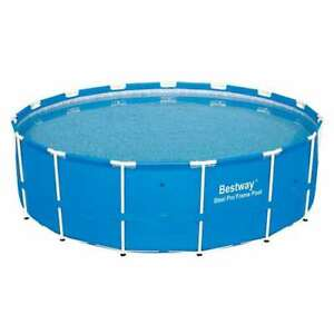 """Bestway 15' x 48"""" Steel Pro Frame Above Ground Swimming Pool (No Pump)(Open Box)"""