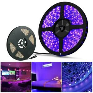 UV Ultraviolet LED Strip Light 5M Waterproof Ribbon Purple Flexible Tape Lamp