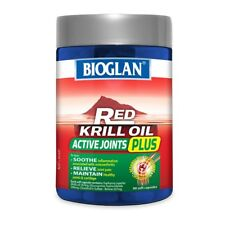 BIOGLAN RED KRILL OIL ACTIVE JOINTS PLUS 90 SOFT CAPSULES JOINT PAIN CARTILAGE