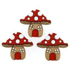 Casa de hongos Botones-Matamoscas botón-jardín De Hadas-Woodland Crafts